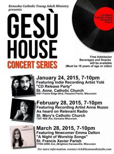 GEsu House concert series